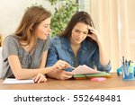 student studying and teaching... | Shutterstock . vector #552648481