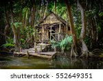 cabin in the forest and... | Shutterstock . vector #552649351