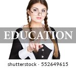 education written on virtual... | Shutterstock . vector #552649615