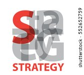 vector strategy. broken text  | Shutterstock .eps vector #552652759