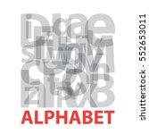 vector alphabet. broken text | Shutterstock .eps vector #552653011