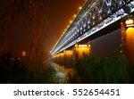night view of bridge over chang ... | Shutterstock . vector #552654451
