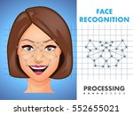 face recognition   biometric... | Shutterstock .eps vector #552655021