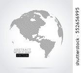 pixel dot world map made from... | Shutterstock .eps vector #552656995