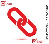 link single icon.chain link... | Shutterstock .eps vector #552657805