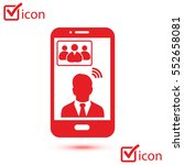 online conference smart phone...