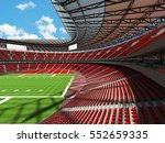3d render of a round football... | Shutterstock . vector #552659335