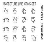 set of gesture in modern thin... | Shutterstock .eps vector #552659887