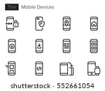 mobile devices line vector... | Shutterstock .eps vector #552661054