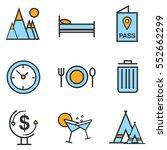 travel icons set line ... | Shutterstock .eps vector #552662299