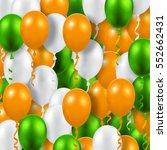 background with green  orange...   Shutterstock .eps vector #552662431