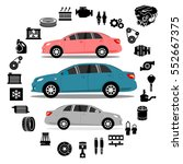 car repair engine vector | Shutterstock .eps vector #552667375