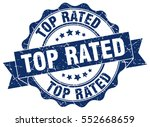 top rated. stamp. sticker. seal.... | Shutterstock .eps vector #552668659