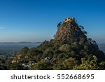 mt. popa  mount popa at sunset... | Shutterstock . vector #552668695