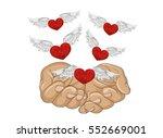 gesture open palms. from... | Shutterstock .eps vector #552669001