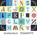 vector drop caps' set. big... | Shutterstock .eps vector #552669475