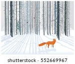 winter forest landscape with a... | Shutterstock .eps vector #552669967