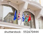 waving flags in front of... | Shutterstock . vector #552670444