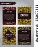tribal mandala design set.... | Shutterstock .eps vector #552677881