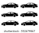 car icon. sedan set.  | Shutterstock .eps vector #552679867