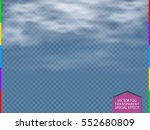cloud  fog or smoke isolated... | Shutterstock .eps vector #552680809