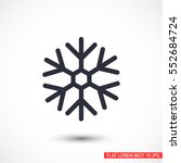 snow icon | Shutterstock .eps vector #552684724