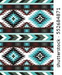 tribal seamless colorful... | Shutterstock .eps vector #552684871