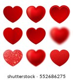 set if heart icon vector. love... | Shutterstock .eps vector #552686275