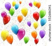 festive balloons real... | Shutterstock .eps vector #552686341
