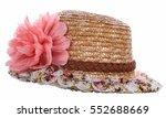Pretty Straw Hat With Flower...