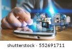 business man working on virtual ... | Shutterstock . vector #552691711