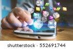 social media concept.media... | Shutterstock . vector #552691744