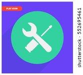 tools vector icon | Shutterstock .eps vector #552695461