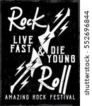 rock music festival poster with ... | Shutterstock .eps vector #552696844
