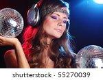 disco girl music | Shutterstock . vector #55270039