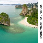 aerial view of railay beach and ... | Shutterstock . vector #552701005