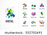 creative  digital abstract... | Shutterstock .eps vector #552702691