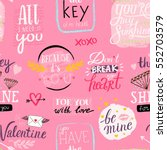 saint valentine's day seamless... | Shutterstock .eps vector #552703579