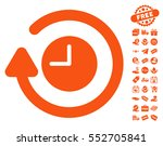 repeat clock pictograph with... | Shutterstock .eps vector #552705841