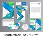 white corporate identity... | Shutterstock .eps vector #552710794