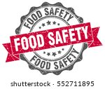 food safety. stamp. sticker.... | Shutterstock .eps vector #552711895