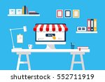 online shopping concept....