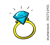 diamond ring vector patch badge ... | Shutterstock .eps vector #552711931