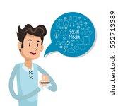 man user smartphone bubble... | Shutterstock .eps vector #552713389