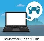 laptop console control bubble... | Shutterstock .eps vector #552713485