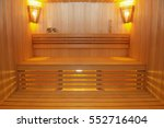 Sauna Room With Traditional...