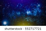 colorful starry night sky outer ... | Shutterstock . vector #552717721