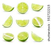 Lime. Fresh Fruit Isolated On...