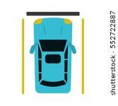 car parking top view | Shutterstock .eps vector #552722887