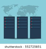 data center server device... | Shutterstock .eps vector #552725851